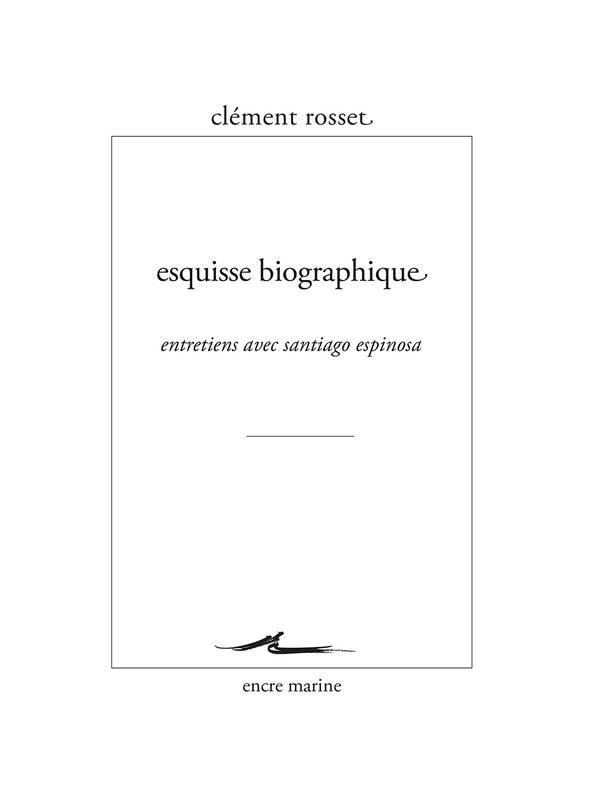 Esquisse biographique